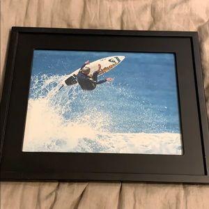 Framed Picture Surfing Portrait